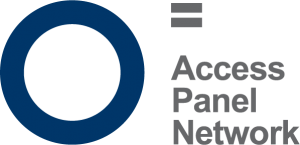 Access Panel logo, a blue circle with text Access Panel Network