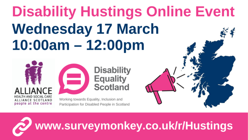 Disability Hustings Event